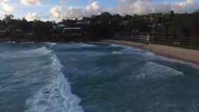 Ocean waves. Phuket ocean waves in july . Drone footage stock video