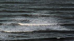Ocean waves reversing stock video footage