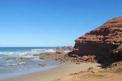 Ocean waves and rocks in Atlantic coast Royalty Free Stock Photos