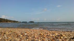 Ocean Waves Rolling on Beach on Koh Samui Island, Thailand. Royalty Free Stock Photo