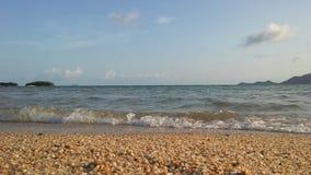 Ocean Waves Rolling on Beach on Koh Samui Island, Thailand. Royalty Free Stock Photos