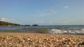 Ocean Waves Rolling on Beach on Koh Samui Island, Thailand. Stock Photography