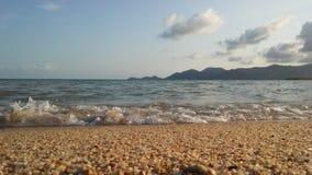 Ocean Waves Rolling on Beach on Koh Samui Island, Thailand. Stock Image