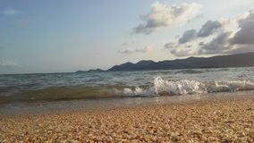 Ocean Waves Rolling on Beach on Koh Samui Island, Thailand. Royalty Free Stock Photography
