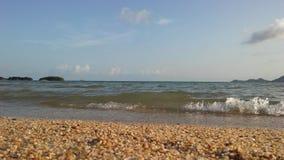 Ocean Waves Rolling on Beach on Koh Samui Island, Thailand. Stock Photos
