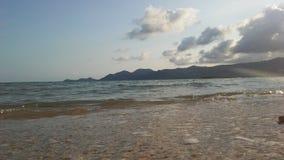 Ocean Waves Rolling on Beach on Koh Samui Island, Thailand. Royalty Free Stock Image