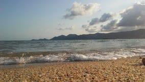Ocean Waves Rolling on Beach on Koh Samui Island, Thailand. Stock Photo