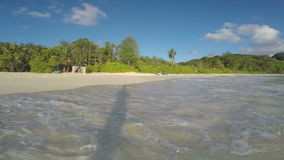 Ocean waves run ashore stock video