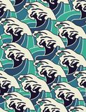 Ocean waves - seamless pattern Royalty Free Stock Photography