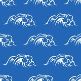 Ocean waves seamless pattern Royalty Free Stock Images