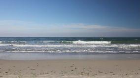 Ocean waves on the shoreline. (Full HD stock video