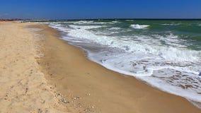 Ocean waves on the shoreline stock video