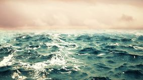 Ocean waves with sky on the background. . Ocean waves with beautiful sky on the background stock photography