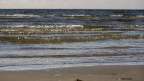 Ocean waves in slow motion stock video footage