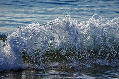 Ocean waves in stop motion. Action Royalty Free Stock Photos