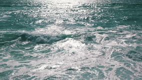Ocean Waves with Sun Reflection stock video footage