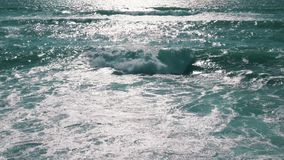 Ocean Waves with Sun Reflection stock footage