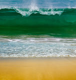 Ocean waves on a sunny day Stock Photo