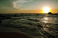 Ocean Waves in the sunrise Royalty Free Stock Photography