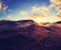 Ocean Waves Sunset Royalty Free Stock Image