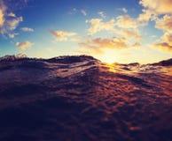 Ocean Waves Sunset Royalty Free Stock Image