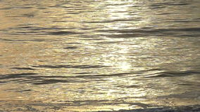 Ocean Waves With Sunset Reflection in Slow Motion stock footage