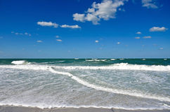 Ocean Waves. And Surf on the Sandy Beaches of Anna Maria Island Royalty Free Stock Photography