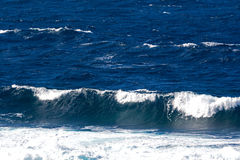 Ocean waves and surf in sunlight Stock Photography