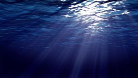 Ocean waves from underwater stock video footage