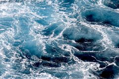 Free Ocean Waves Wallpaper, Dark Blue Water And Sea Foam From Aerial View, Natural Abstract Pattern Background. Royalty Free Stock Image - 173556926