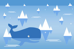 Ocean whale Royalty Free Stock Photo