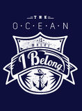 The ocean is where I belong Royalty Free Stock Photography