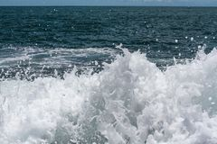Ocean splashes. Ocean with white splashes, tide stock photography
