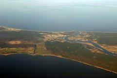 ocean widok rzeki lotniczego Zdjęcia Royalty Free