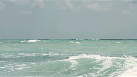 Ocean wind waves sea spray stock footage