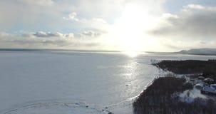 Ocean winter stock video
