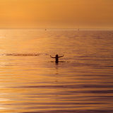 Ocean woman in sunset light Royalty Free Stock Photo