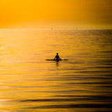Ocean woman in sunset light Royalty Free Stock Image