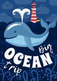 Ocean wycieczki plakat Obraz Royalty Free