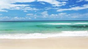 Ocean z fala przy złota wybrzeża plażą zbiory wideo
