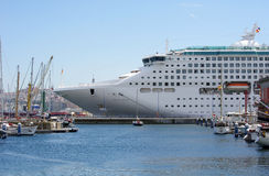 Oceana Ship in Coruña Port. The Oceana, a big cruise ship on August 11, 2011 in the harbour of La Coruña, Galicia, Spain. The Oceana is categorized as a Stock Image