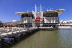 Oceanario de Lisboa Lisbon aka oceanarium w Parque das Nacoes Obraz Stock