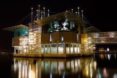 Oceanarium in Lisbon at night. Stock Photography