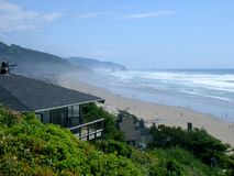 oceanfront дома пляжа Стоковое Изображение