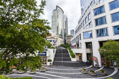 Oceanfront area in Vancouver, BC Royalty Free Stock Photos