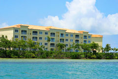 Oceanfront condos. Shot of oceanfront condos on the water Royalty Free Stock Image