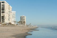 Oceanfront condos on Coronado beach Stock Photos