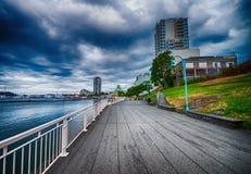 Oceanfront di Nanaimo nell'isola di Vancouver, Canada fotografia stock libera da diritti