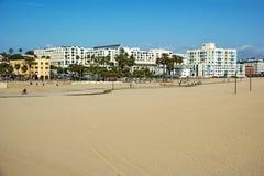 oceanfront för strandKalifornien hotell Fotografering för Bildbyråer