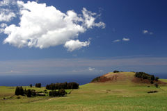 Oceanfront Hawaii Ranch. A ranch on the Big Island of Hawaii overlooks the ocean royalty free stock photography